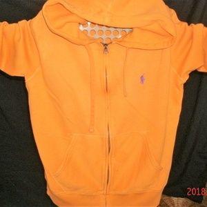 #5 Orange Ralph Lauren Polo Sweatshirt
